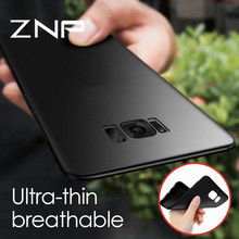 ZNP Ultra Thin Silicone Cover Cases for Samsung Galaxy S6 S7 Edge S8 Plus Soft TPU Case For Samsung S8 S7 S6 Edge Phone Bag Case