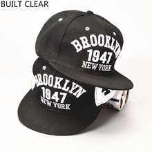 (BUILT CLEAR) snapback Brooklyn-style gorras cap, baseball cap inscribed in New York, Brooklyn, headpiece for hip-hop, cap