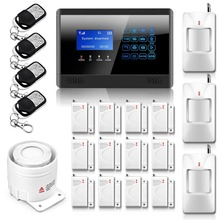 New GAM alarm Touch Keypad Wireless GSM SMS TEXT Auto dial Smart Security Alarm System LCD 850/900/1800/1900MHz for Home Office