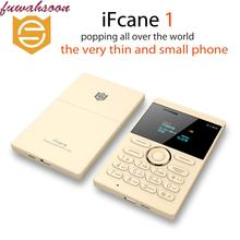 (Arabic &Russian keyboard) original Ultra Thin Children cellphone  MP3 iFcane E1 Mini mobile pocket old man phone