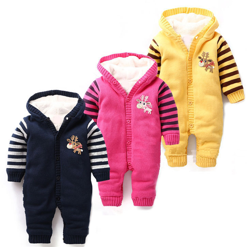 Christmas Fleece Baby Rompers Newborn Bebe Deer Knitted Winter Overalls For Baby Boys Girls Clothes Crochet Baby Hooded Outfits<br><br>Aliexpress