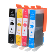 Printer Ink  Cartridges with Chip for HP 655  compatible  for HP deskjet  4615 4625 CZ109AE CZ110AE CZ111AE CZ112AE Printers