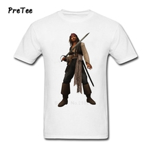 Male T Shirt Pure Cotton Short Sleeve Pirates Round Neck Tshirt Caribbean Man's Clothes 2017 Modern Of T-shirt For The Adult