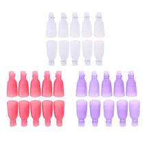 10Pcs Nail Polish Remover Cover Soak Off Cap Aid Clip Nail Gel Remover Wrap Kit Manicure Pedicure Cleaner Fixing Cap Nail Tools