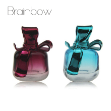 Brainbow 15ml 3D Creative Bow Refillable Portable Mini Perfume Bottle &Traveler Glass Spray Atomizer Empty Parfum Bottle as Gift