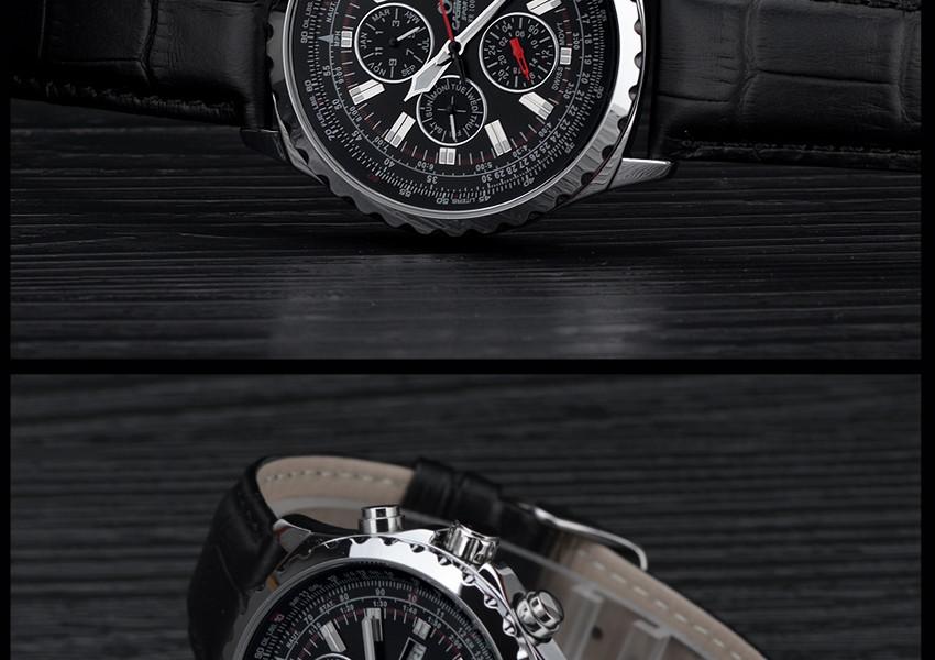 ساعة يد رجالي ماركة كوارتز 18