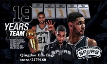 San Antonio Spurs Team Super Star Flags Digital Printing basketball flag metal Grommets 3x5FT colorful 100D Polyester(China)
