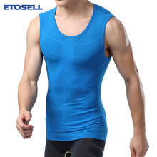 Buy 1PC Men Workout Breathable Top Tees Clothing Compression Base Layer Fitness Tight Shirt Vest Thermal Tops for $6.24 in AliExpress store