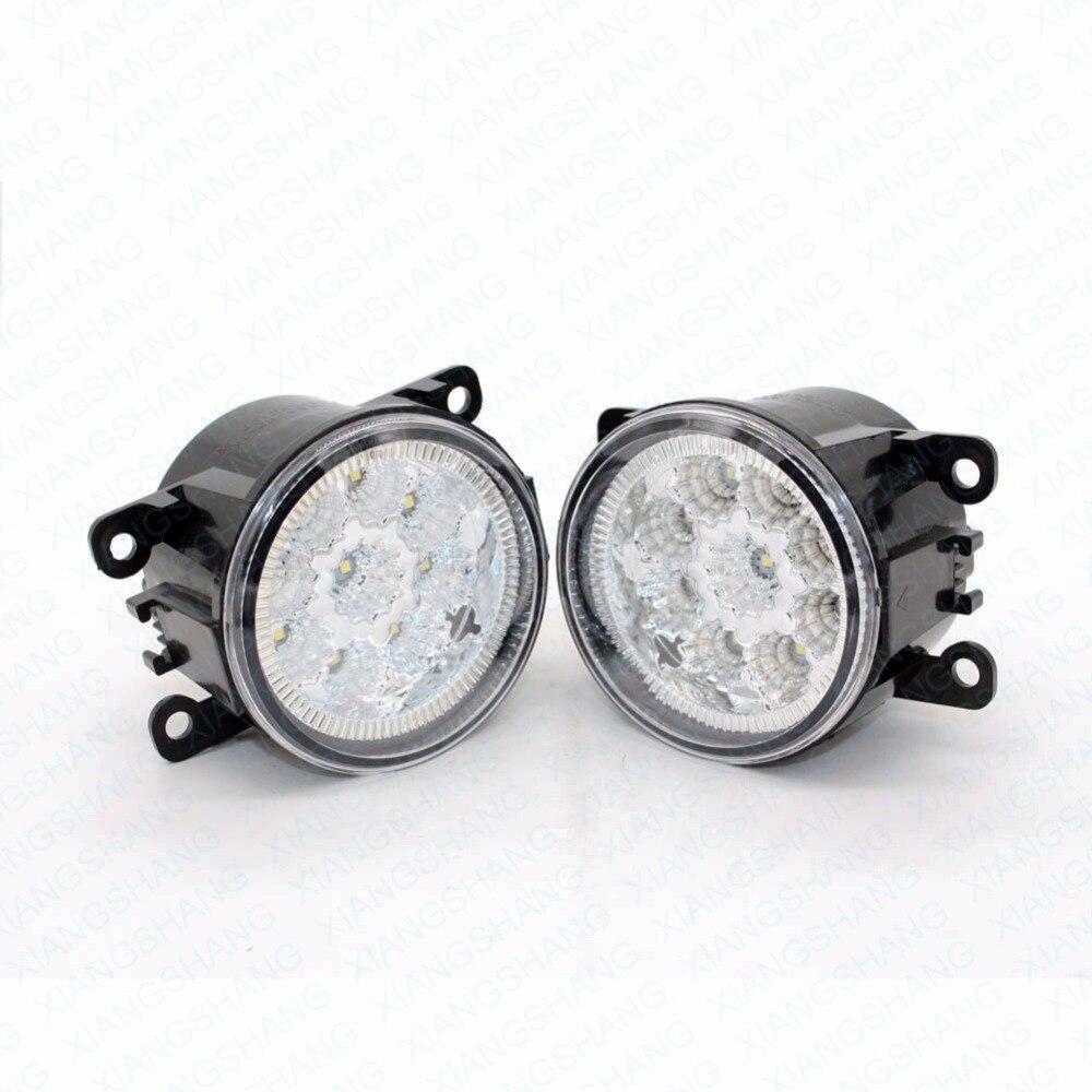 2pcs Car Styling Round Front Bumper LED Fog Lights DRL Daytime Running Driving  For Nissan NAVARA (D40) 2005-2006<br>