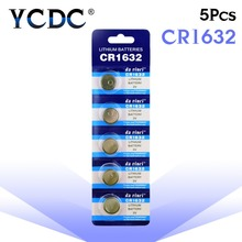 YCDC Sale 2 Days Promotion Button battery CR1632 LM1632 BR1632 ECR1632 3V Watch Button Coin Cells Lithium Battery 5 Pcs EE6224