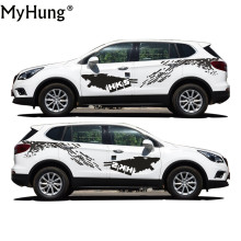 New Style Car Styling Stickers For Hyundai Santa Fe Car Stickers Pvc Decal Personality Waterproof Car Accessories 2pcs