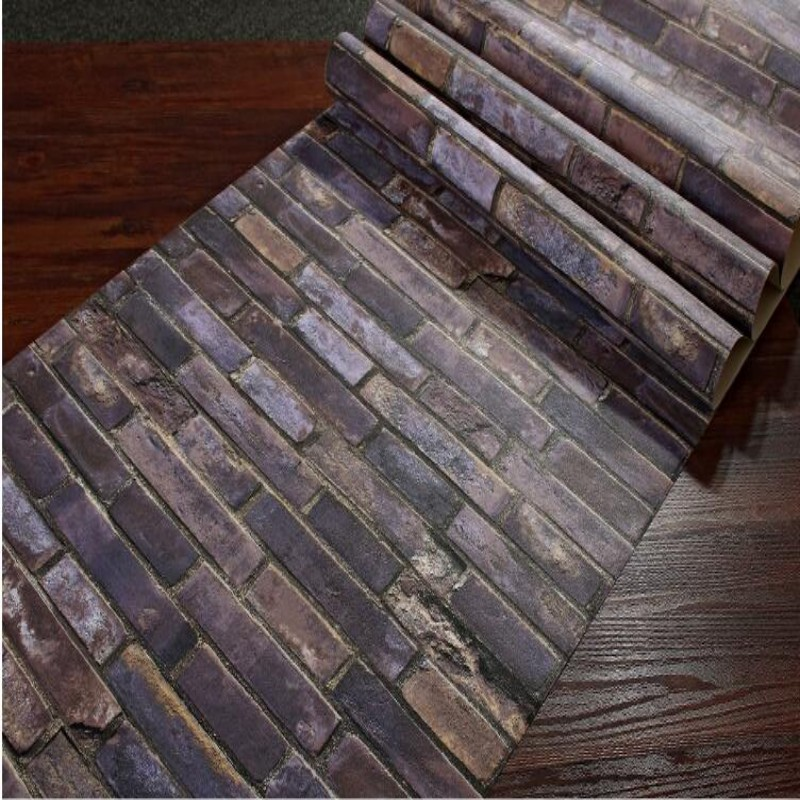 Beibehang PVC Wallpaper Modern Classical Brick Bedroom Wall Decoration Hotel Background Wall paper Living Room 3d Wallpaper roll<br>