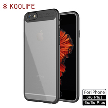for iPhone 6 Plus Case Transparent Silicone Back Cover for iPhone 6s Cases KOOLIFE Brand Phone Case for Apple iPhone6 Plus Cover(China)