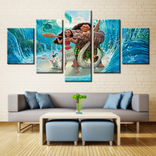 Moana Cartoon Movie Poster Wall Art for Modern Home Decor Oil Painting Canvas Fashion Artwork Modular High Quality Unframed