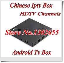 Android tv box 1 year free Chinese subscription HDTV 250 more China channel iptv Chinese Iptv box