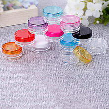 10 Pcs/Set Plastic Cosmetic Empty Jar Pot Box Nail Art Cosmetic Bead Storage Container Round Bottle 5g Transparent Makeup Tools(China)