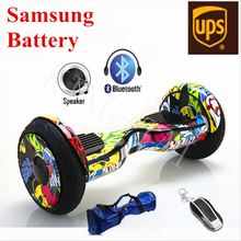 Electric Scooters Hover board 10Inch Bluetooth Speaker LED Light 2 Wheel Scooter Self Balancing Smart Balance Hoverboard - KING-TAI store