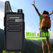 Zastone ZT-X6 UHF 400-470 MHz 16 CH Mini Walkie Talkie Portable Handheld Transceiver Toy Walkie talkie Ham Radio Gift In Moscow(China)