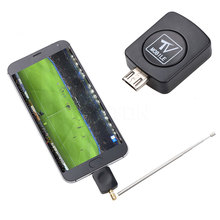 2017 Hot Digital TV Tuner Satellite Dongle Receiver + Antenna Micro USB Mini DVB-T HD For Android 4.03-4.10 Phone Mobile TV