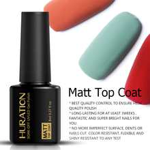 Huration Professional Semi Permanent Matt Nail Gel UV LED 8ml Ransparent Matte Lacquer Coat Clear Top Soak off Gel Nail Polish(China)