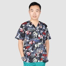Hennar Brand men medical scrub top 100% cotton Medical uniforms(China)