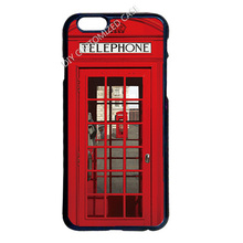 London Telephone Booth Cover Case for iPhone 4 4S 5 5S 5C 6 6S 7 Plus iPod 5 Samsung S3 S4 S5 Mini S6 S7 Edge Plus Note 2 3 4 5