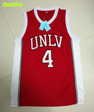 SexeMara Cheap 4# Larry Johnson UNLV 1989 Jersey Running Rebels Throwback Shirt Stitched Red Mens Basketball Jersey(China)