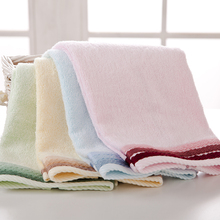 Embroidery Bath Towel 34cm*72cm Soft Cotton Flower Face Towel Bamboo Fiber Quick Dry Hair Hand Towels Quality First J-05(China)