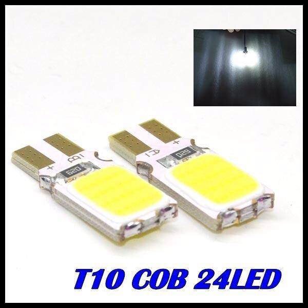 10 x T10 COB LED White Super Bright Car Light Canbus Error Free 194 168 24led W5W Parking Backup Reverse For Brake Lamp<br><br>Aliexpress