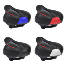 Bike Bicycle PU leather and silicone gel Saddle MTB Sport Hollow Saddle Seat Black soft Comfort bike saddle Wholesale Price