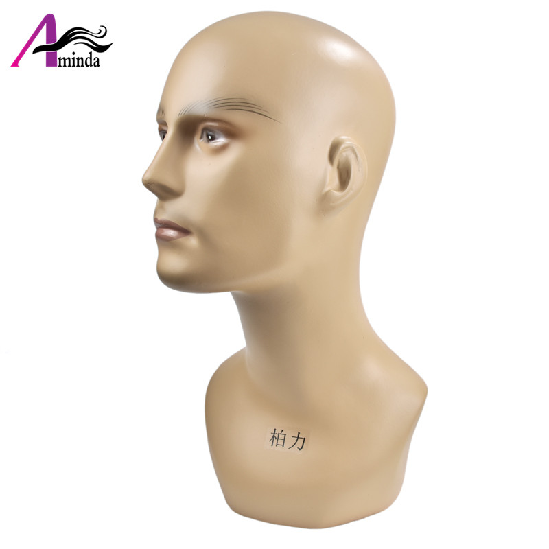 Free Shipping Fiberglass Abstact Male Mannequin Head For Sunglass Wig Hat Scarf  Display, Mannequins for VR Showcase Show Realistic Model (6)
