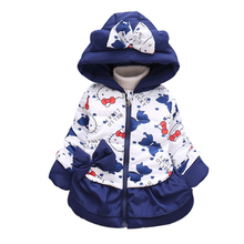 Newest 2017 Infant Winter Coats Baby Girs Jacket Hooded Wam Cartoon Outdoor Children Outerwear Kids Parkas Cotton-Padded Coats