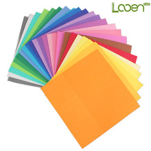 Looen 24pcs/lot New 24color Thick Multicolor Sponge Foam Paper Fold Scrapbooking Paper Craft DIY Gift Decor Card 25*25*0.1cm(China)
