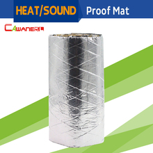 "Cawanerl 1 Piece 12"" x 40"" Auto Car Thermal Heat Shield Sound Proof Insulation Mat Deadening Anti Noise Deadener Self-Adhesive(China)"