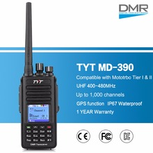 TYT MD-390 DMR Digital Two Way Radio UHF 400-480MHz 5W Walkie Talkie Transceiver With GPS Function IP67 Waterproof & Dustproof(China)