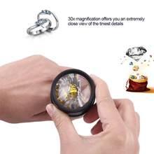 Portable 30X Jeweler Watch Optical Magnifier Tool Monocular Magnifying Glass Loupe Lens Eye Magnifier Len Repair Kit Tool(China)