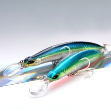 SFT Sea Bass Fishing Lures 115mm 27g Crank bait Crankbait Tackle Swim Floating Minnow Fishing Bait with Japan Hooks 50(China)