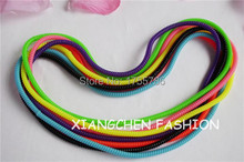50CM Long Telephone Cord Hair Elastic Hair Scrunchies Ponytail Holder Elastic Headband For Girl Hair Rubber Band(China)