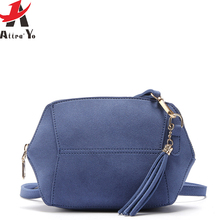 Atrra-Yo brands women messenger bags ladies matte leather shoulder bag tassel mini top high quality bags handbag cross-body bags