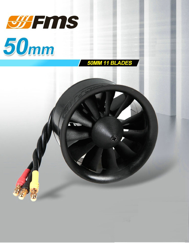 50 mm 11 blades bypass FMS model aircraft parts with KV4500 power group/KV5400 brushless motor support 3S/4S lithium battery<br>