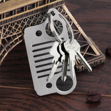 New arrival Car Key Chain Stainless Steel grill KeyChain Key Ring for Jeep Grill CJ JK TJ YJ XJ hot selling(China)