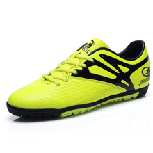 2016 New Mens Football Boots Soccer Shoes Black/Orange/Green Turf Football Shoes For Men Leather Soccer Cleats Sport Sneakers