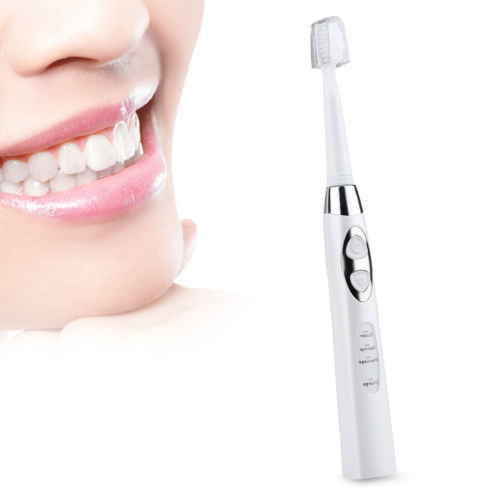 Inductive Sonic Electric Toothbrush Usb Rechargeable Toothbrush 3 Heads Dental Care Tooth Brush<br>