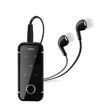Portable Earphones Mini Clip On Stereo Headset Wireless Bluetooth Earphone With Mic Hand-free Audio Receiver Adapter 3.5mm(China)