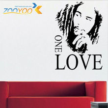 BOB MARLEY One Love Bob Portrait GRAPHIC Wall Stickers For Living Room Decoration Bedroom VINYL adesivos de parede HOME DECOR(China)