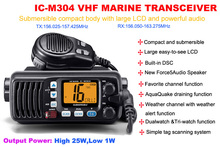 IC-M304 Submersible VHF Marine Transceiver