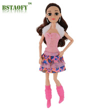 BASTAOFY Dropshipping Curls Princess Doll & Dress up Playset with Accessories 6 Beautiful Dresses Girl's Dream Gifts(China)