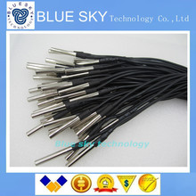 Free Shipping 20pcs DS18B20 Stainless steel package 1 meters waterproof DS18b20 temperature probe temperature sensor 18B20
