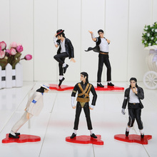"NEW MICHAEL JACKSON FIGURES 5 POSE PVC Model Action Figure toy 4"" (11cm) Free Shipping"