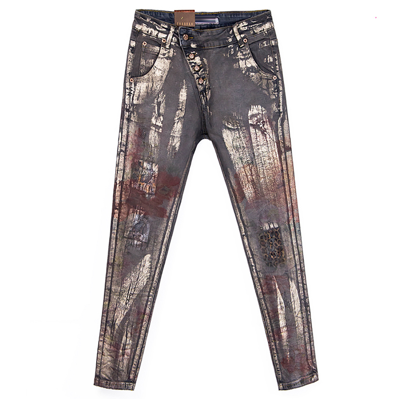Compare Prices on Women Patterned Designer Jeans- Online Shopping ...